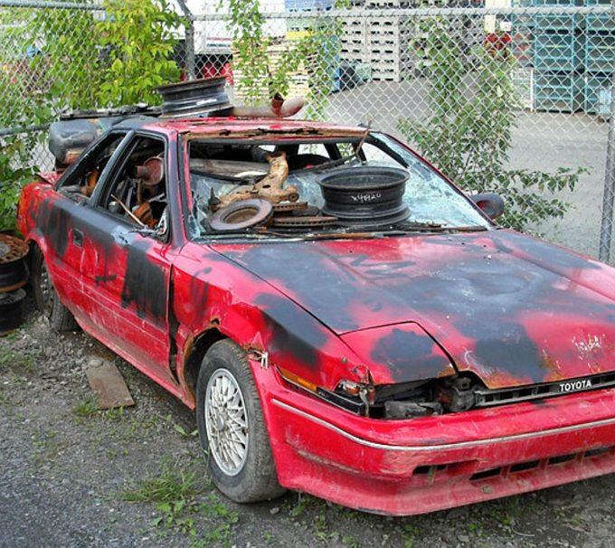 Car Wreck, Old, Rusty, Wreck, Car, Junk Yard, Junkyard